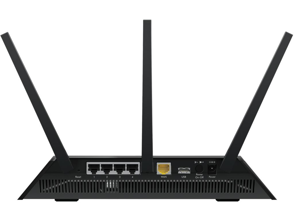 Netgear Nighthawk AC1900 R7000 draadloze wifi router - achterkant
