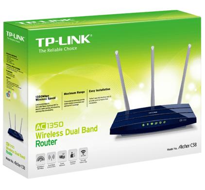 TP-Link Archer C58 - beste budget draadloze router - verpakking